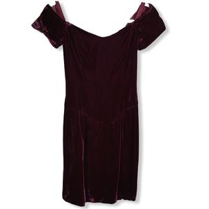 Vintage Bridal Originals Red Wine Velvet Dress